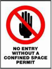 confined space no entry signage